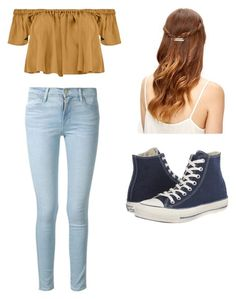 """Modern Pocahontas"" by divergent04 ❤ liked on Polyvore featuring Tejido, Frame Denim, Converse and modern"