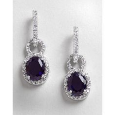Lord & Taylor Cubic Zirconia And Sterling Silver Drop Earrings