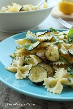 Pasta marinata alle erbe e zucchine |CuciniAmo con Chicca