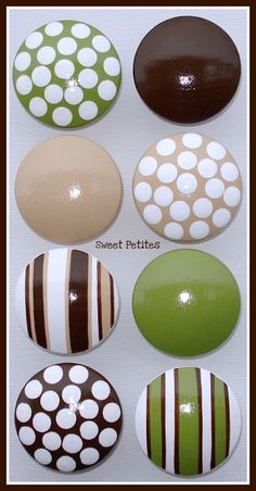 Hand Painted Knob Dresser Drawer Stripes by SweetPetitesBoutique, $6.00