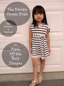 Fresh Off the Bolt: The Rarity Tunic/Dress Free Pattern and Tutorial