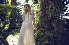 boho wedding dress halter neck by limor rosen