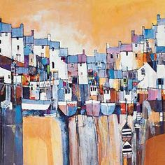 'Harbour Cornwall 5' by Martin Procter (D042)