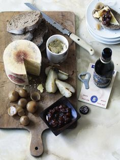 This looks delicious and right up my alley - cheeseboard with various accompaniments