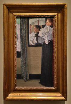 Julian Alden Weir 1852 1919 Face Reflected In A Mirror 1896 Museum Design CollegesDesign