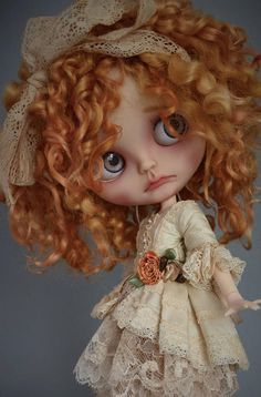 Items similar to The Blythe Couture Collection: Romantic Rococo Inspired Outfit by Bibarina- Pure Neemo S/Blythe/Pullip/Takara/Licca/Azone on Etsy Creepy Dolls, Doll Repaint, Custom Dolls, Ball Jointed Dolls, Doll Face, Big Eyes, Couture Collection, Blythe Dolls, Beautiful Dolls