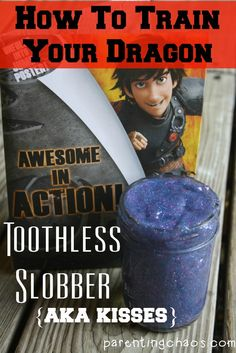My kids are LOVING this How to Train Your Dragon Slime.or as they call it Toothless Kisses! Dragon Birthday Parties, Dragon Party, 11th Birthday, Birthday Ideas, Birthday Stuff, Birthday Fun, Httyd, Activities For Boys, Family Movie Night