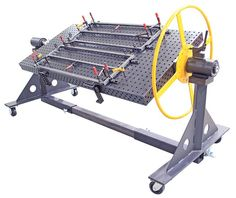Dynamic controlled Metal Welding tips hop over to here Welding Bench, Welding Table Diy, Welding Cart, Welding Shop, Welding Tips, Metal Welding, Cnc Table, Metal Working Tools, Metal Tools