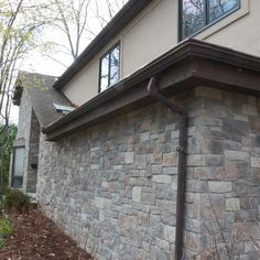 Cobble stone veneer is ideal for large exterior veneer projects. This stone looks best when installed using a mortar joint. Check out more of our cobble stone veneer at www.northstarstone.biz