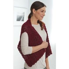 Burgundy Cool Vest - Mary Maxim, free pattern (but account needed)