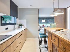 La cocina en dos frentes y dos estilos
