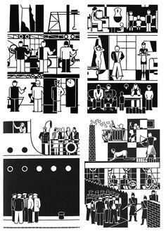 Gerd Arntz :: isotype pictogram :: black & white