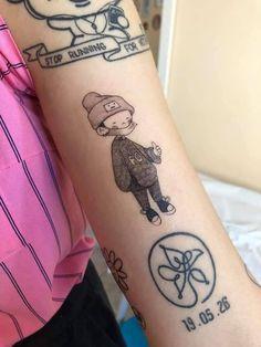 Cute Tiny Tattoos, Pretty Tattoos, Mini Tattoos, Beautiful Tattoos, Kpop Tattoos, Army Tattoos, Sleeve Tattoos, Tatoos, Matching Best Friend Tattoos