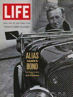 "James Bond Author Ian Fleming - Life Magazine, October 7, 1966 issue - Visit http://oldlifemagazines.com/the-1960s/1966/october-07-1966-life-magazine.html to purchase this issue of Life Magazine. Enter ""pinterest"" at checkout for a 12% discount. - James Bond Author Ian Fleming"