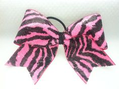 3 3 inch cheer cheerleader bow Neon Pink by blingitoncheerbows