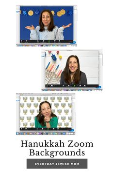 Virtual backgrounds for Hanukkah. Represent the holiday with some digital decorating for your Zoom calls. #hanukkah #zoom #zoommeeting #zoomparty #chanukah Hanukkah Recipes, Hanukkah Crafts, Hanukkah Food, Hanukkah Decorations, Happy Hanukkah, What Is Hanukkah, Preschool Activities, Backgrounds, Decorating