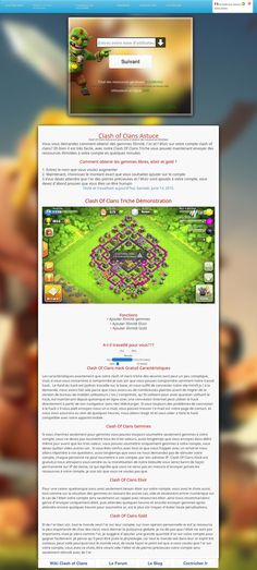 Coctricher - Clash of Clans is a strategy game where the goal is to build its own village, unlock different warriors, attacking resources of other villages etc. http://coctricher.fr/clash-of-clans-gemmes.html