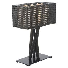Jungle Table Lamp in Charcoal