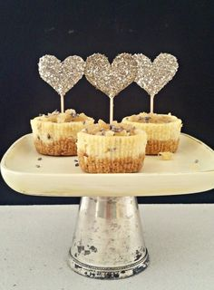 Glass Glitter Cupcake Toppers... | make it give it