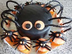Cool Homemade Spider Birthday Cake Birthday cakes Spider and Homemade