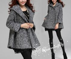 Hey, I found this really awesome Etsy listing at https://www.etsy.com/listing/205359530/women-gray-wool-woolen-coat-jacket-fall