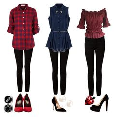 """3 Black Jean Outfits"" by iitstayla on Polyvore"