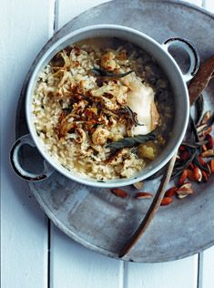 roasted cauliflower risotto. Yum.