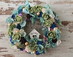 Flower wreath wedding decor bridal shower decor bridal