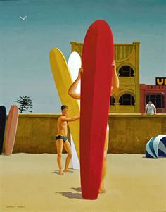 "Jeffrey Smart   ""Surfer's Bondi 1963"