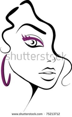 Beautiful girl face - buy this stock vector on Shutterstock & find other images.