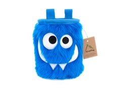 Blue Foodie Monster Chalk Bag, Rock Climbing Chalk Bag by Crafty Climbing