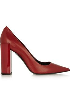Pierre Hardy Nappa leather pumps | NET-A-PORTER--every girl needs a pair of killer red pumps