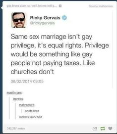 Yes, yes, yes.  Gay marriage is nothing but equal rights.