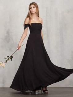 The Isadora Dress is made specially for your bridesmaids with big boobs - it's strapless bra friendly and designed to fit a full C to DD cup.  So all your buddies can feel beautiful on your big day.  https://www.thereformation.com/products/isadora-dress-for-boobs-black?utm_source=pinterest&utm_medium=organic&utm_campaign=PinterestOwnedPins
