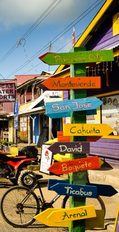Which way to go? Lost in Bocas del Toro, Panama. http://bocasdeltoro.com www.CoolPanama.com