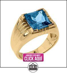 Pequeños Tesoros - Anillos Hombres Alianza De Boda 10 Kt Oro 471/1000 Oro Amarillo Aguamarina  ✿ Joyas para hombres especiales - lujo ✿ ▬► Ver oferta: https://comprar.io/goto/B0127I849G
