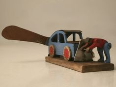 c.1930 Vintage French Folk Art Whirligig, would be fun to make one like it