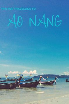 Tips For Travelling To Ao Nang, Krabi – Thailand Travel Guide What to see, eat, do and shop in Ao Thailand Honeymoon, Krabi Thailand, Ao Nang Thailand, Honeymoon Ideas, Khao Lak Beach, Ao Nang Beach, Thailand Adventure, Thailand Travel Guide, Places To Travel