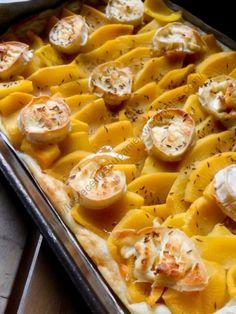 Tarte rutabaga, chèvre et miel No Salt Recipes, Dinner Sides, French Food, 20 Min, Quiche, Side Dishes, Vegetarian Recipes, Good Food, Brunch