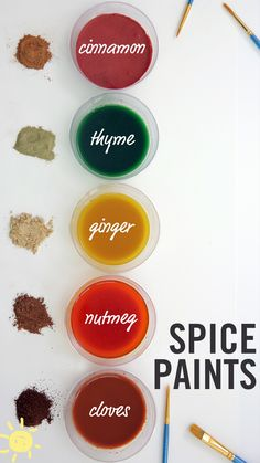 We had so much fun making, painting, and SMELLING these spice paints!