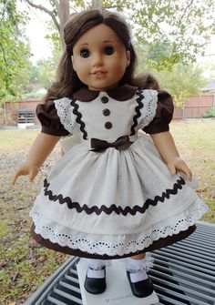 1950's Style Fall Party Dress for AG Maryellen by Designed4Dolls on Etsy $22.95