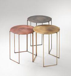 Mesa Metal, Modern Furniture, Furniture Design, Interior Desing, Coffe Table, Small Tables, Side Tables, Metal Side Table, Deco Design