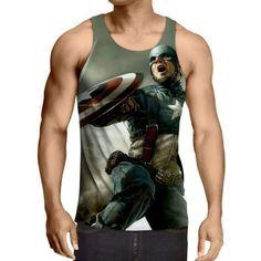 Captain America: 3D Printed Ataraxy Captain America Tank Top
