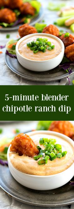 A simple blender chipotle ranch dip with plenty of flavor and a delicious spicy kick