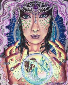 """Gypsy from Hanna Karlzon's """"Magical Dawn. I know a mermaid doesn't make much sense but I do what I want  #hannakarlzon #magicaldawn #magiskgryning  #coloringhabit #prismacolor #wonderfulcoloring #coloringhabit #boracolorirtop #fangcolourfulworld #colorindomeujardimencantado #adultcoloringbook #adultcoloring #bayan_boyan #topcoloridos #majesticcoloring #addictioncolor #divasdasartes #arte_e_colorir #colore_arte #coloring_repost #beautifulcoloring #docepapelatelier #coloringobsession #gypsy..."""