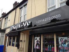 Deja vu hair dressers signage Sheffield