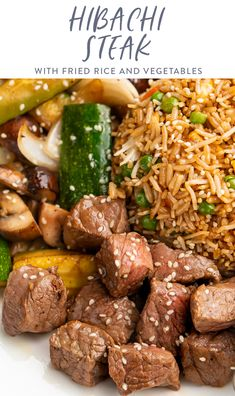 Hibachi Fried Rice, Hibachi Chicken, Chicken Steak, Grilled Steak Recipes, Grilling Recipes, Cooking Recipes, Beef Recipes, Easy Recipes, Steak Meals
