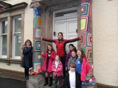 Children from Achievement Bute enjoying the yarn bombing Yarn Bombing, Children, Creative, Fabric, Kids, Tejido, Tela, Fabrics, Kid