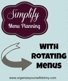 Simplify Menu Planning With Rotating Menus