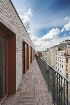 Orfila by Mobile Architectural Office Building Layout, Building Facade, Luz Natural, Pere Lachaise Cemetery, Paris Climate, Timber Panelling, Urban Fabric, Concrete Structure, Living Environment